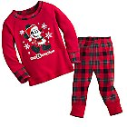 Santa Mickey Mouse Long Sleeve Pajama Set for Baby - Walt Disney World