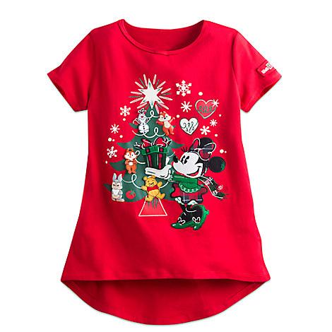 Happy Holidays Tee for Girls - Walt Disney World
