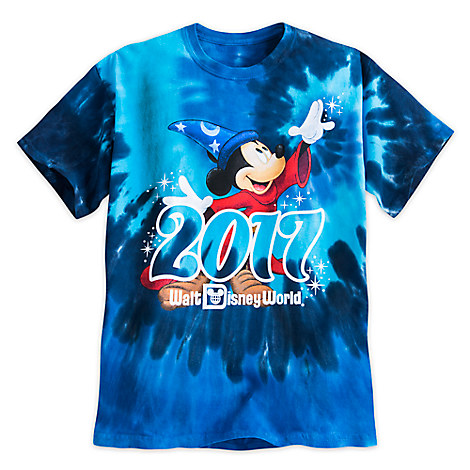 Sorcerer Mickey Mouse Tie-Dye Tee for Boys - Walt Disney World 2017