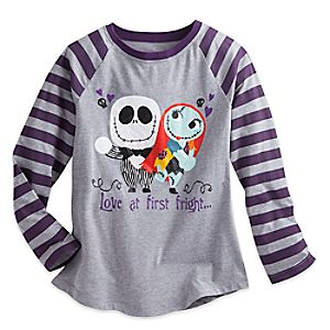 Tim Burton's The Nightmare Before Christmas Raglan Top for Girls