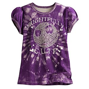Jack Skellington Tie Dye Tee for Girls