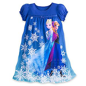 Anna and Elsa Nightgown for Girls