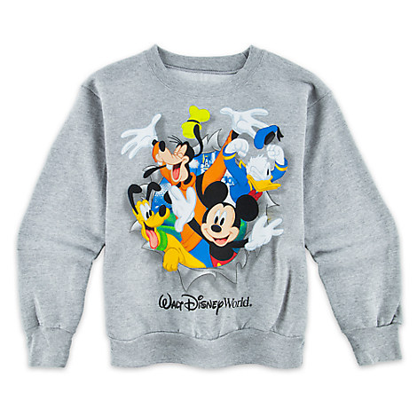 Mickey and Friends Peek-a-Boo Sweatshirt for Kids - Walt Disney World