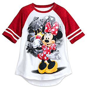 Minnie Mouse Raglan Tee for Girls - Walt Disney World