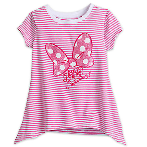 Minnie Mouse Bow Striped Fashion Tee for Girls