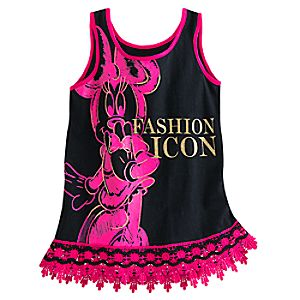 Minnie Mouse Lace-Trimmed Tank Tee for Girls