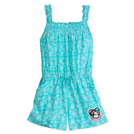Minnie Mouse Floral Romper for Girls - Disney Cruise Line