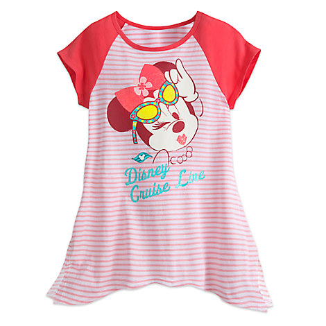 Minnie Mouse Raglan Sleeve Tee for Girls - Disney Cruise Line