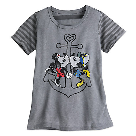 Mickey and Minnie Mouse Tee for Girls - Disney Cruise Line
