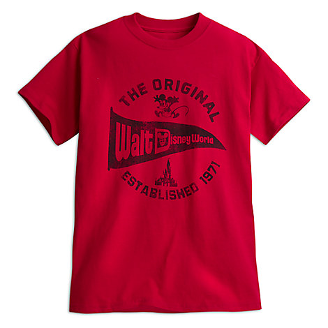 Walt Disney World Pennant Tee for Kids - Red