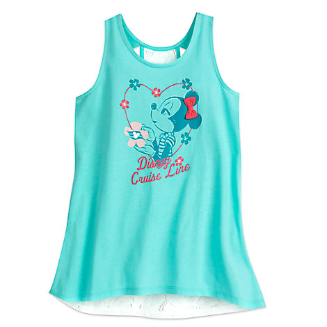 Minnie Mouse Floral Tank for Girls - Disney Cruise Line