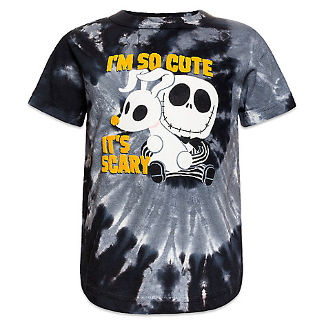 Jack Skellington and Zero Tie-Dye Tee for Kids