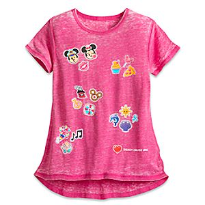 Mickey and Minnie Mouse Emoji Tee for Girls – Disney Cruise Line