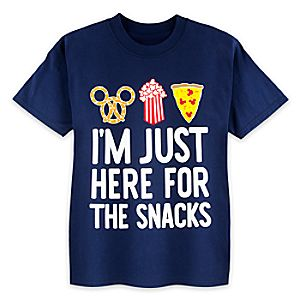 Disney Parks ''Here For The Snacks'' T-Shirt for Kids
