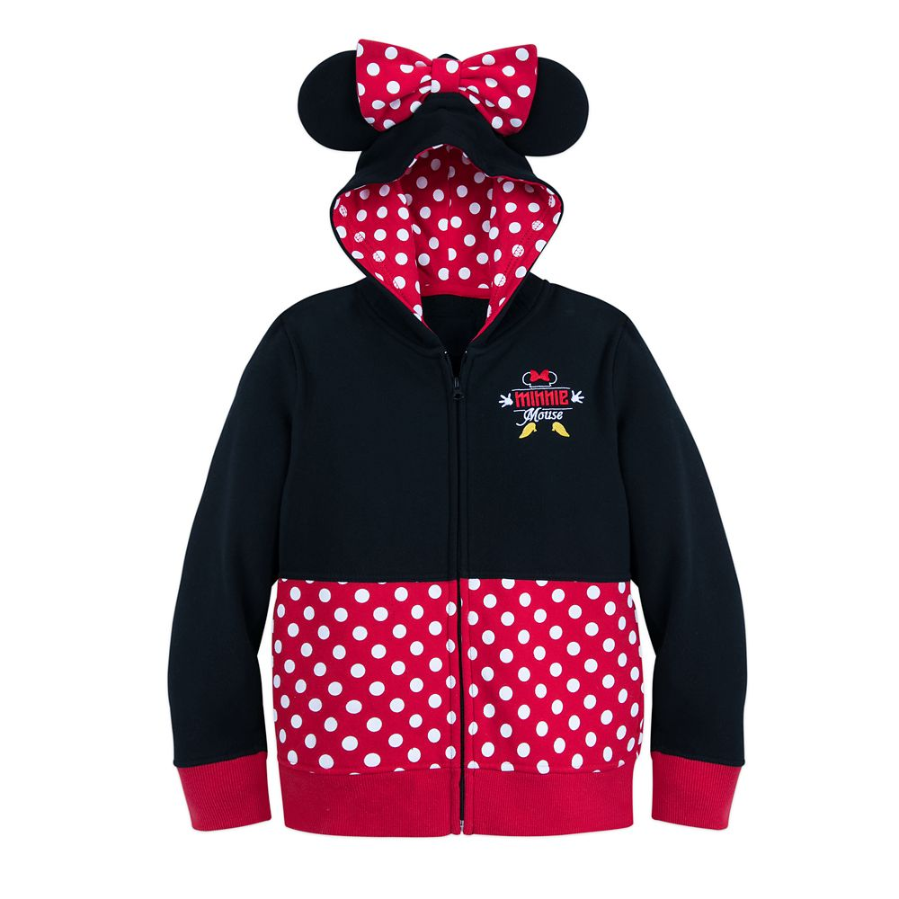 I Am Minnie Mouse Zip-Up Hoodie for Girls
