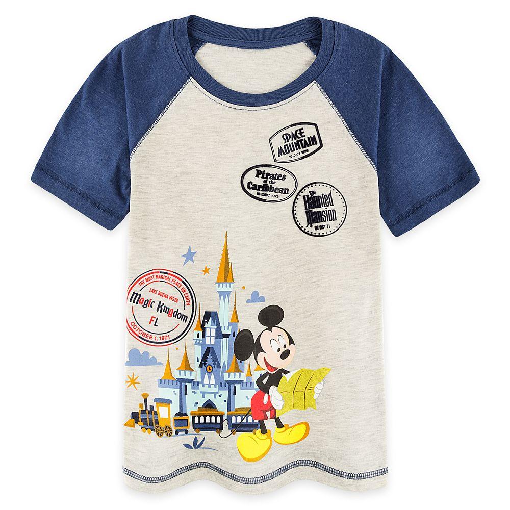 Mickey Mouse Magic Kingdom Raglan T Shirt For Boys