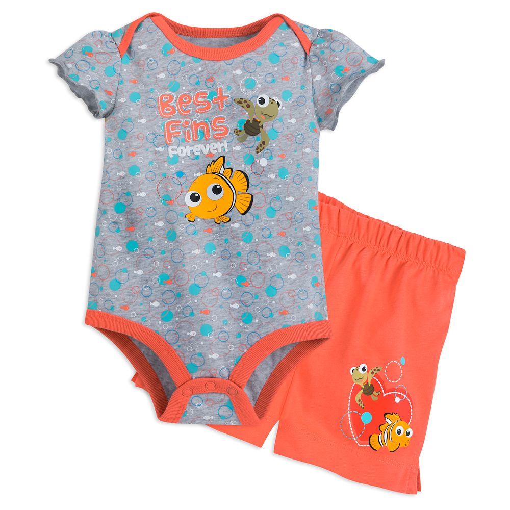 Finding Nemo Cuddly Bodysuit and Shorts Set for Baby