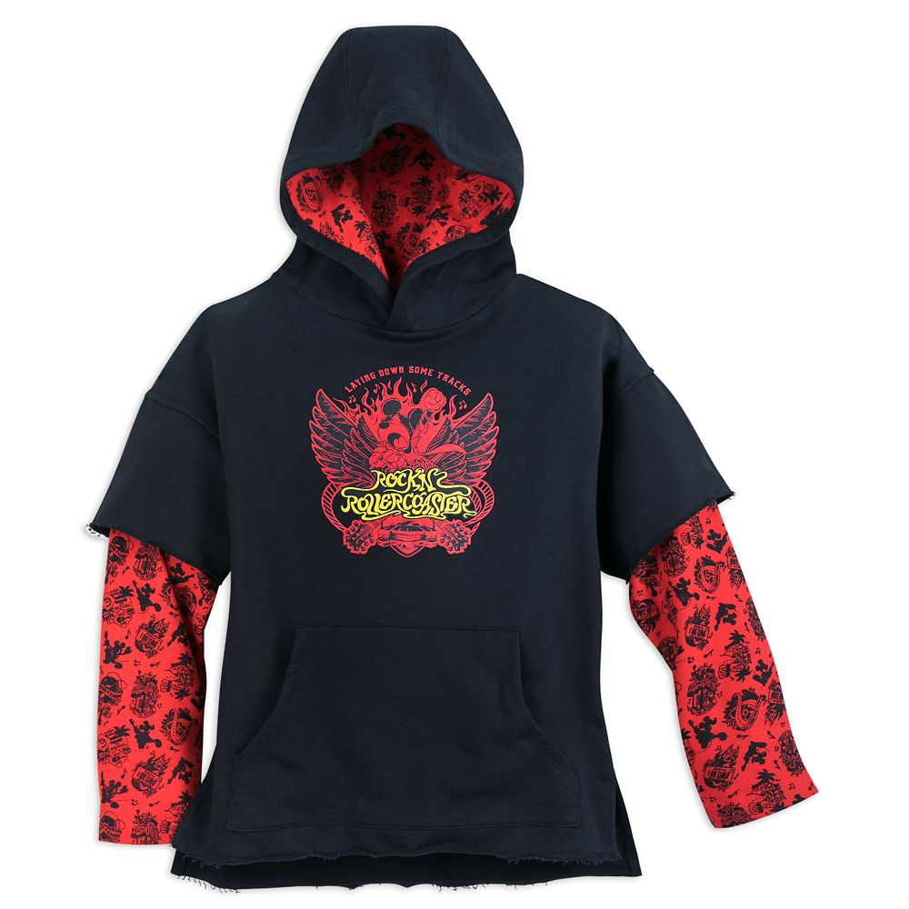 Mickey Mouse Rock 'n Roller Coaster Double-Up Pullover Hoodie for Boys Official shopDisney