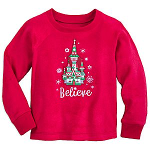 Image of Fantasyland Castle Christmas Pajama Top for Girls