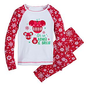 Image of Minnie Mouse Snowflake Pajamas for Kids