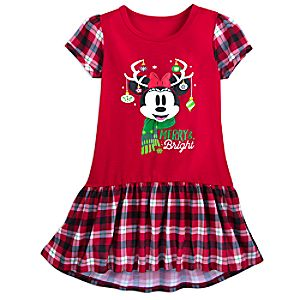 Image of Minnie Mouse Christmas Nightshirt for Girls