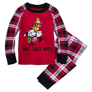 Santa Mickey Mouse Holiday Pajama Set for Kids - Walt Disney World