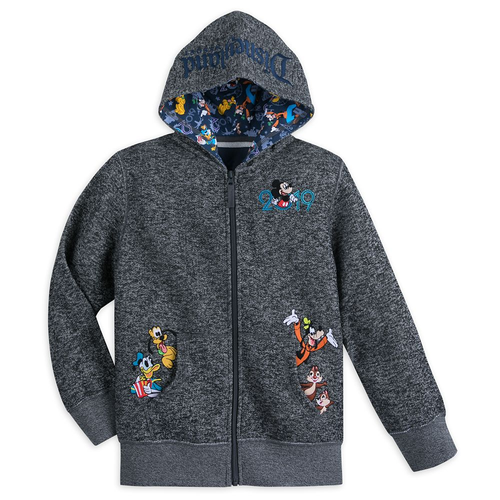 Mickey Mouse and Friends Knit Hoodie for Boys – Disneyland 2019