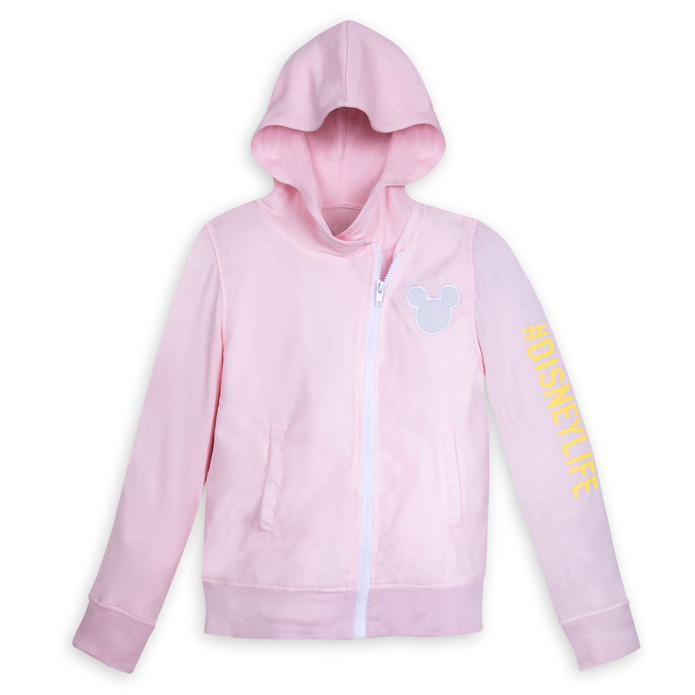 Mickey Mouse Icon Satin and Jersey Hoodie for Girls
