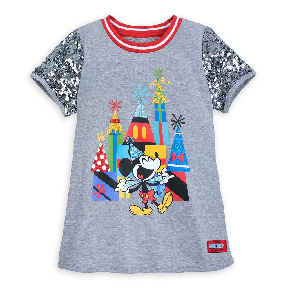 Mickey Mouse Celebration Sequin T-Shirt for Girls  Walt Disney World