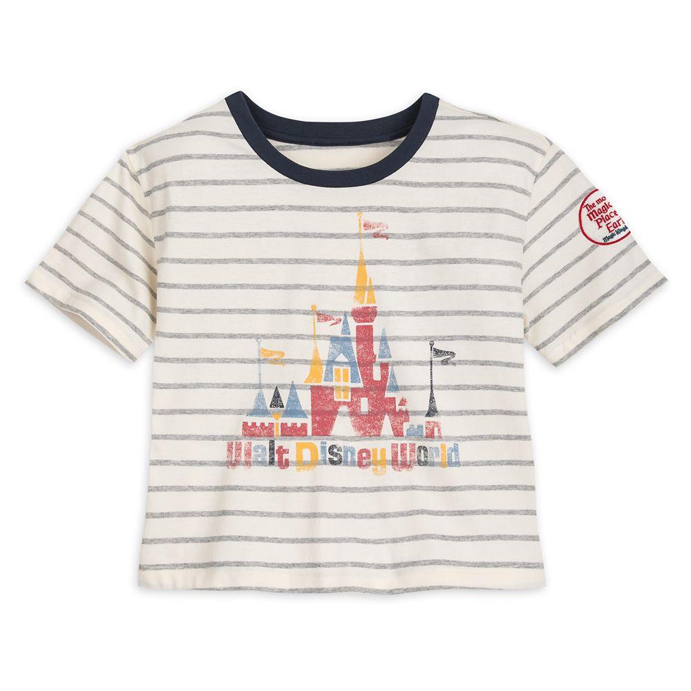 Fantasyland Castle Striped T-shirt for Girls by Junk Food  Walt Disney World