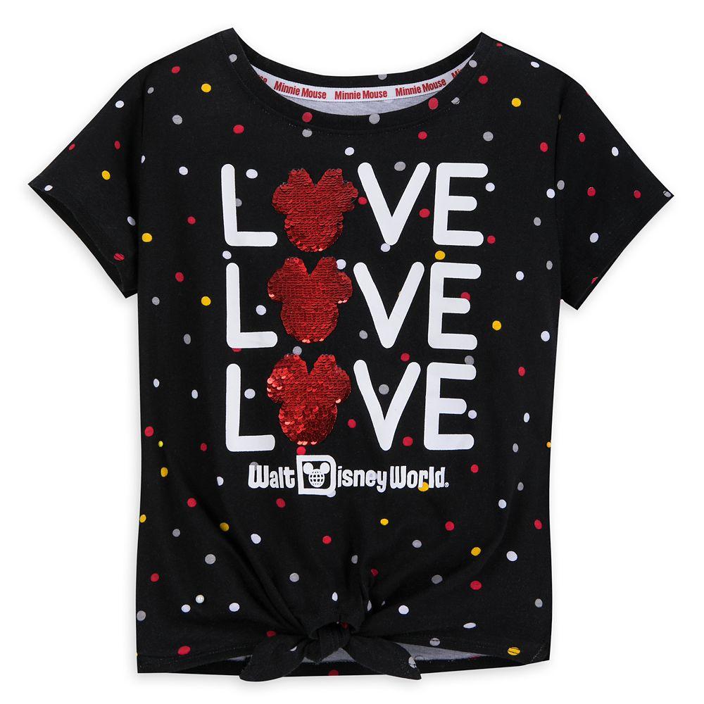 Minnie Mouse Reversible Sequin T-Shirt for Girls  Walt Disney World