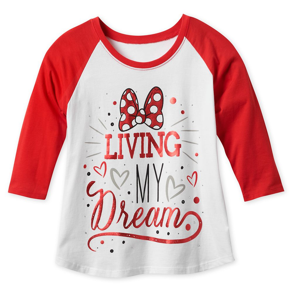 Minnie Mouse Bow Raglan T-Shirt for Girls Official shopDisney
