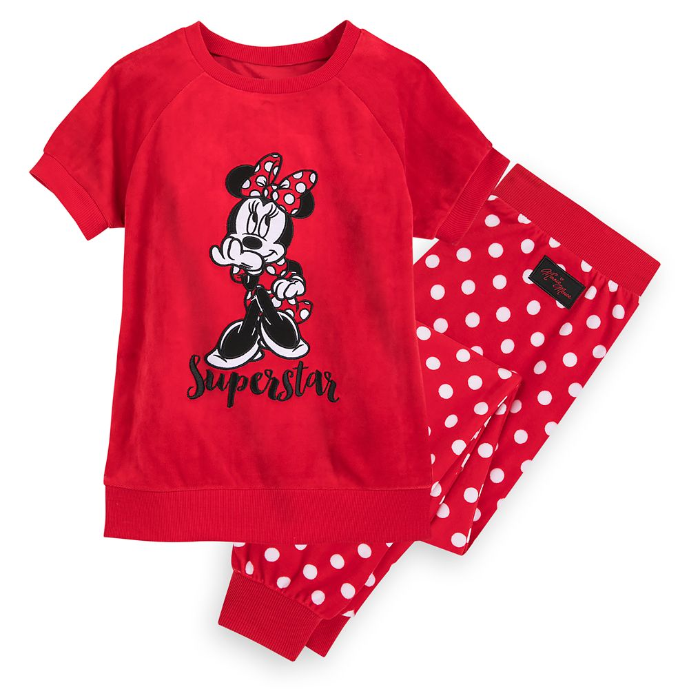 Minnie Mouse Velour Pajama Set for Girls