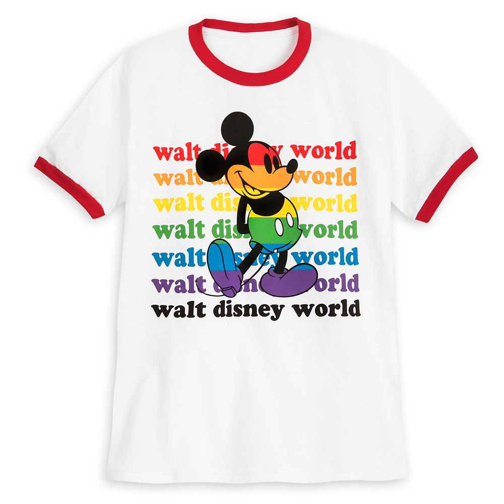 Rainbow Disney Collection Mickey Mouse Ringer T-Shirt for Kids – Walt Disney World