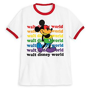 Rainbow Disney Collection Mickey Mouse Ringer T-Shirt for Kids - Walt Disney World