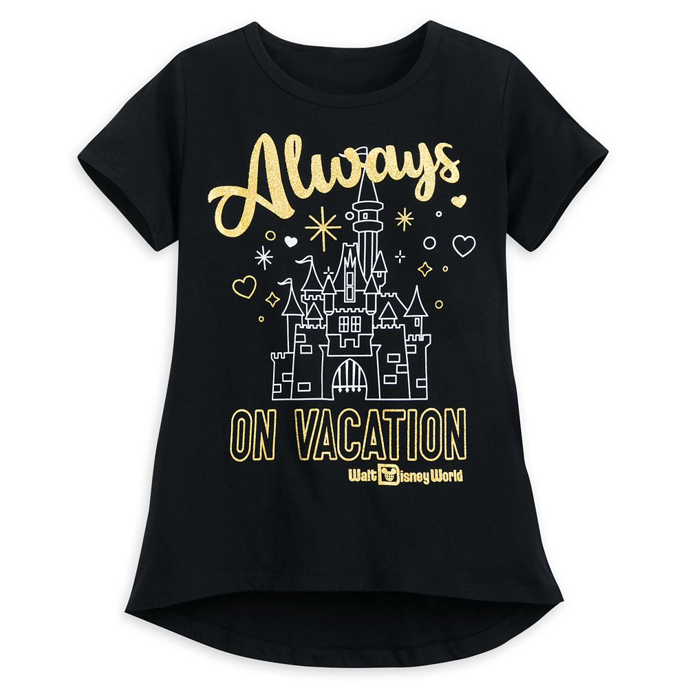 Always on Vacation T-Shirt for Girls  Walt Disney World