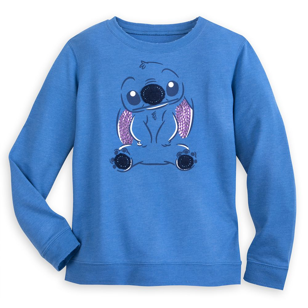Stitch Long Sleeve Sweatshirt for Girls