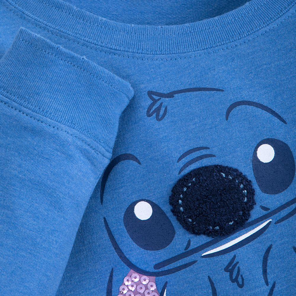 Stitch Long Sleeve Sweatshirt for Girls