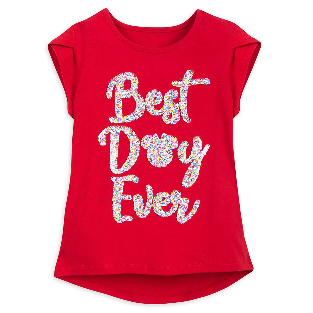 Disney Parks Reversible Sequin T-Shirt for Girls