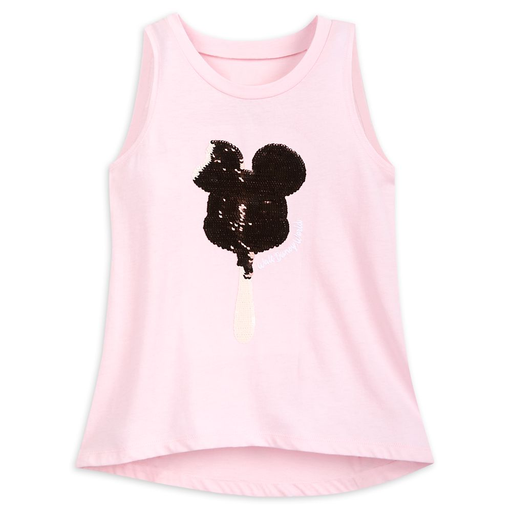 Mickey Mouse Ice Cream Bar Reversible Sequin Tank Top for Girls – Walt Disney World