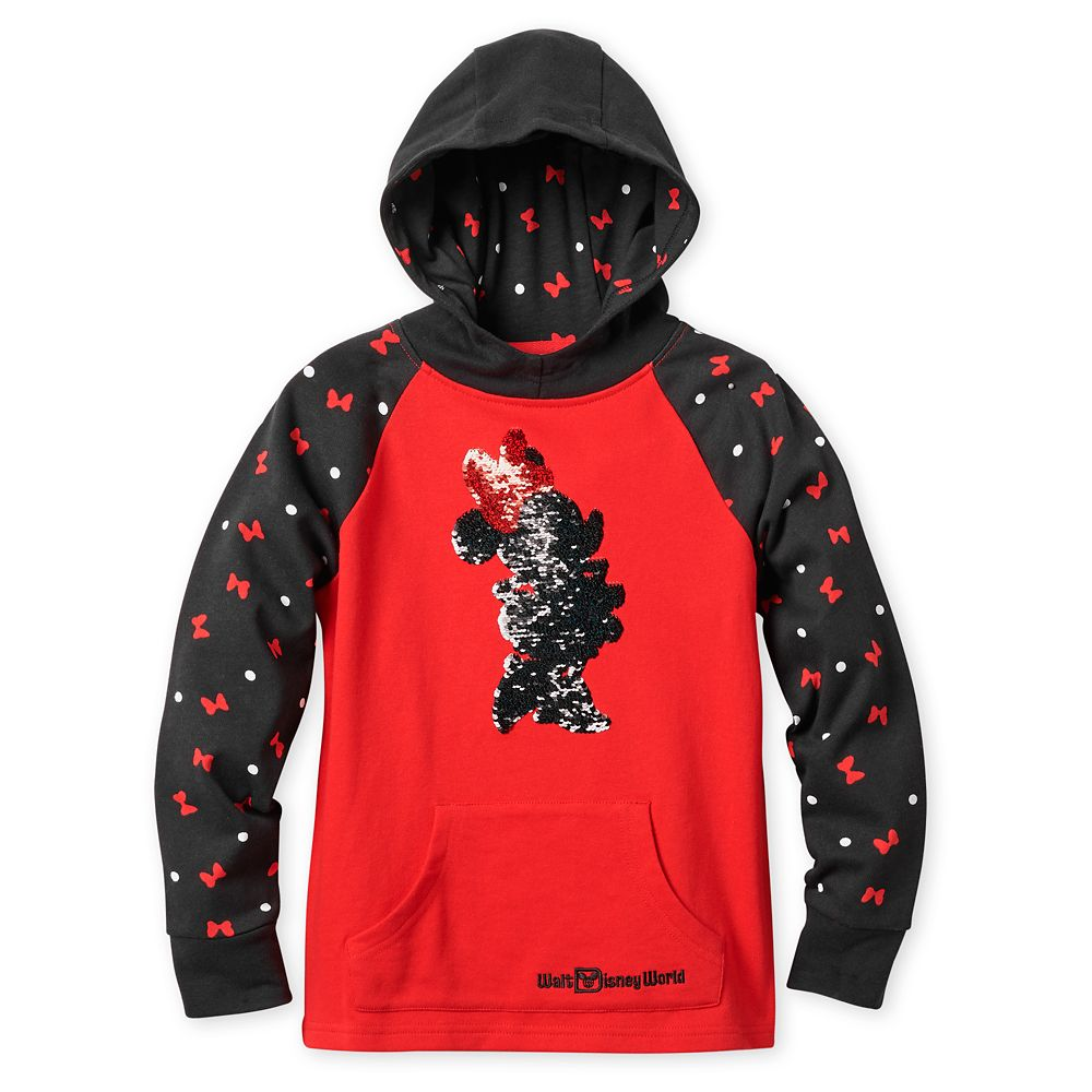 Minnie Mouse Reversible Sequin Hoodie Sweatshirt for Girls – Walt Disney World