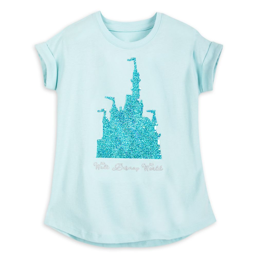 Walt Disney World Reversible Sequin T-Shirt for Girls – Arendelle Aqua