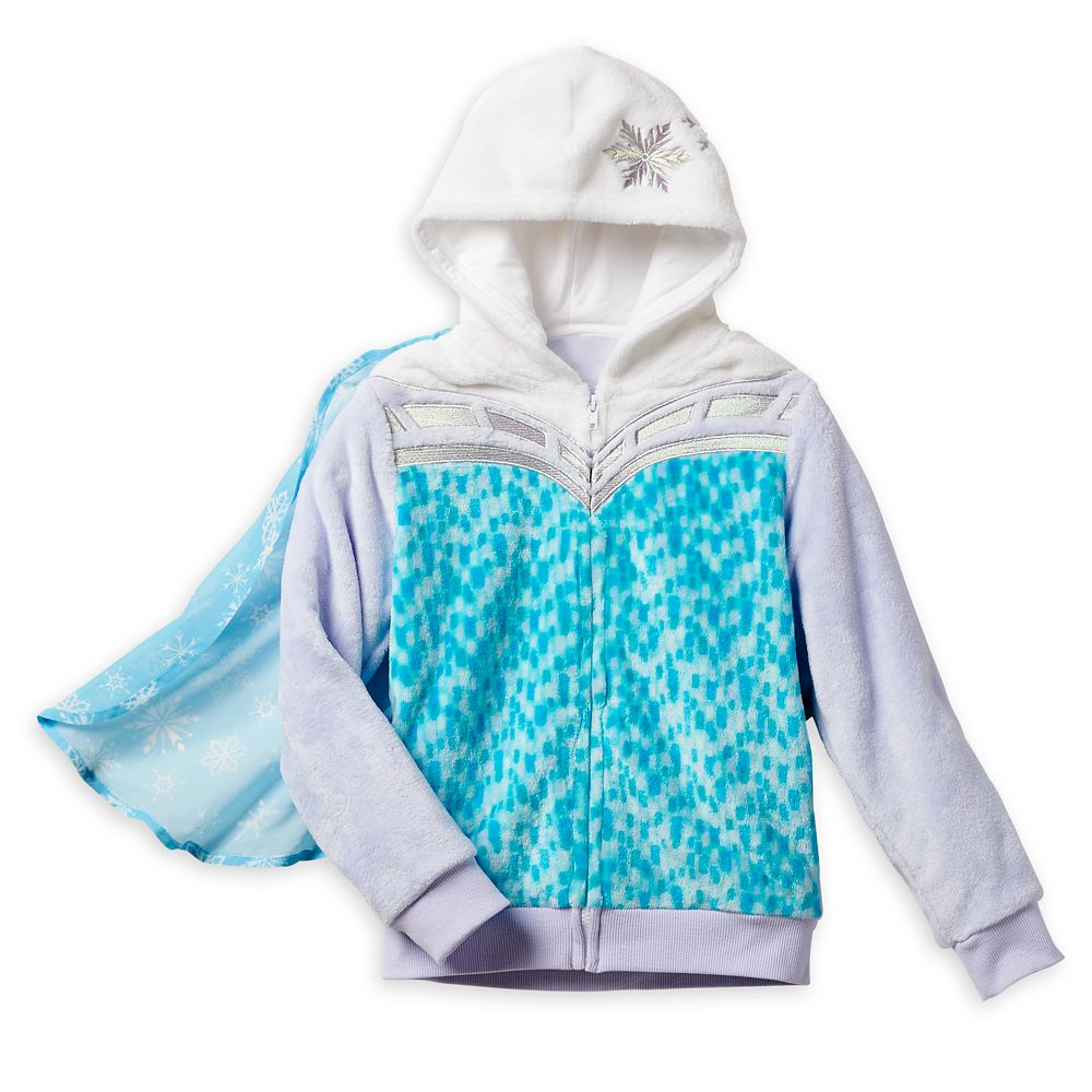 Elsa Fuzzy Hooded Jacket for Girls