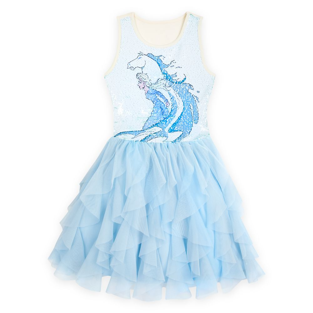 Elsa Reversible Sequin Dress for Girls – Frozen 2