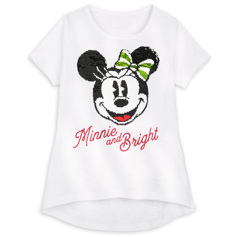 Minnie Mouse Holiday Reversible Sequin T-Shirt for Girls – Walt Disney World