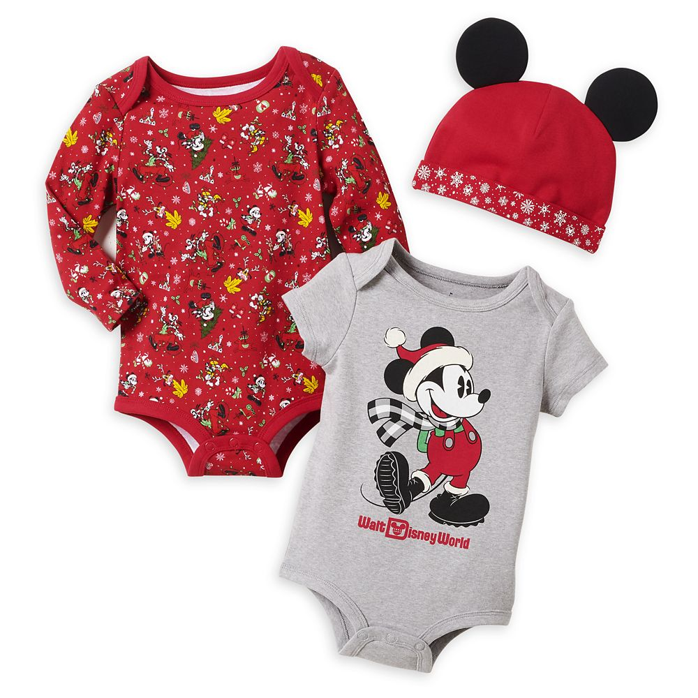 Mickey Mouse Holiday Bodysuit Set for Baby – Walt Disney World