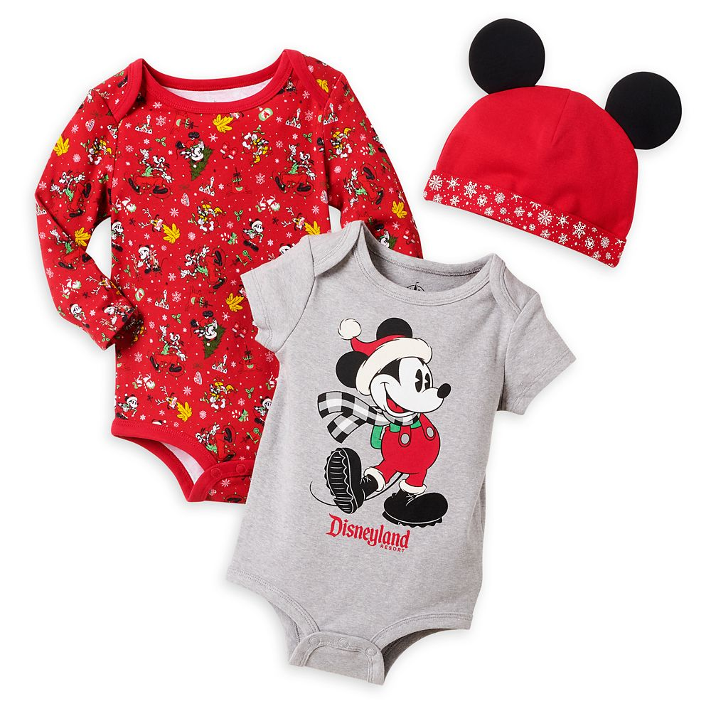 Mickey Mouse Holiday Bodysuit Set for Baby – Disneyland