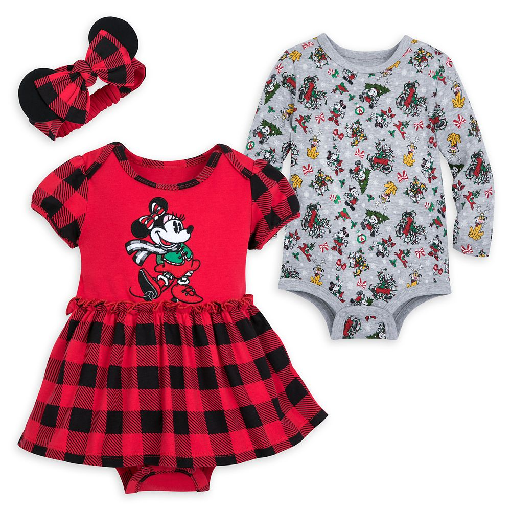 Mickey Mouse and Friends Holiday Bodysuit Set for Baby – Walt Disney World