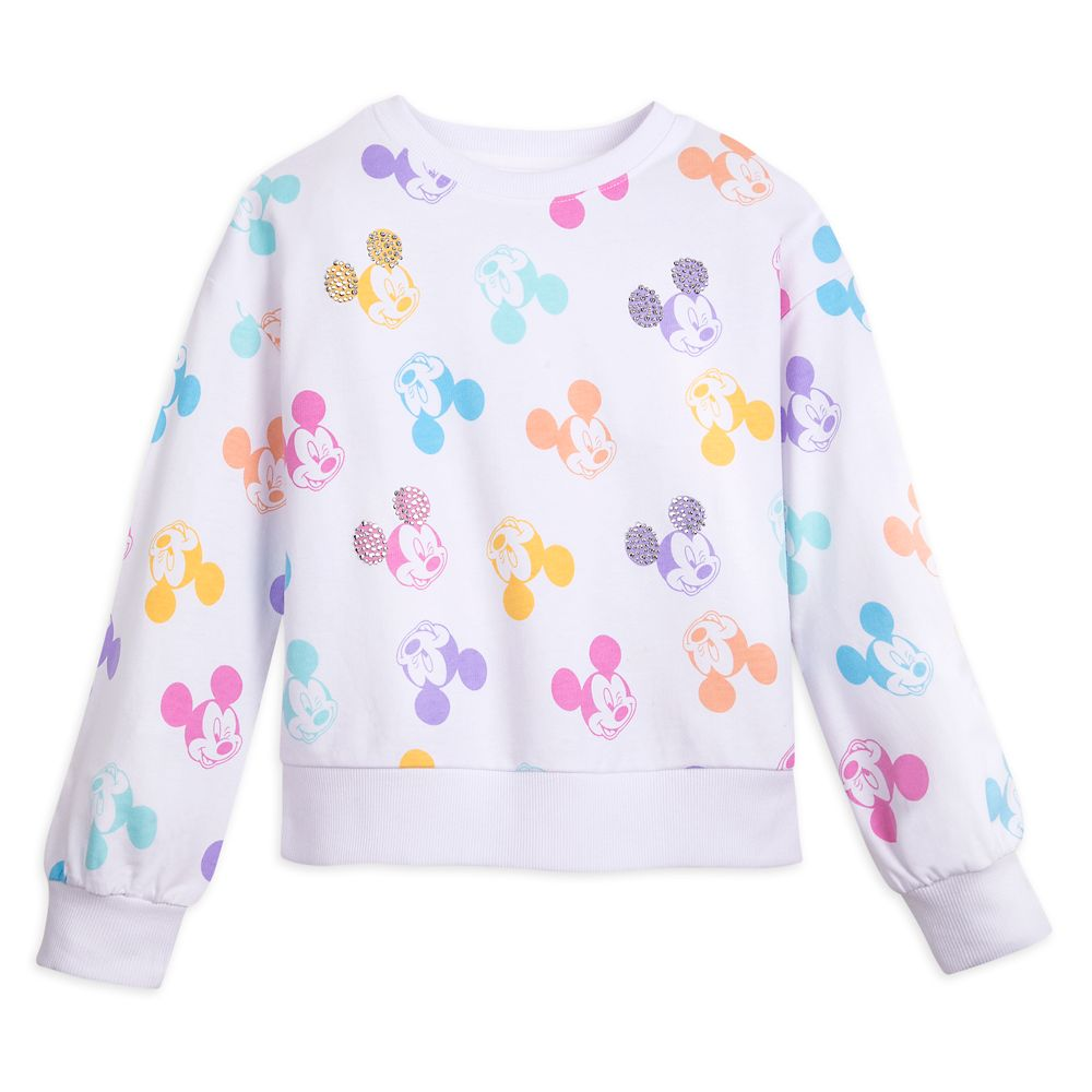 Mickey Mouse Print Sweatshirt for Girls