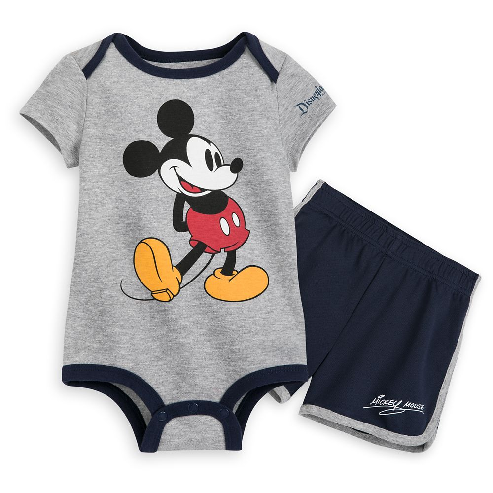 Mickey Mouse Bodysuit and Shorts Set for Baby – Disneyland